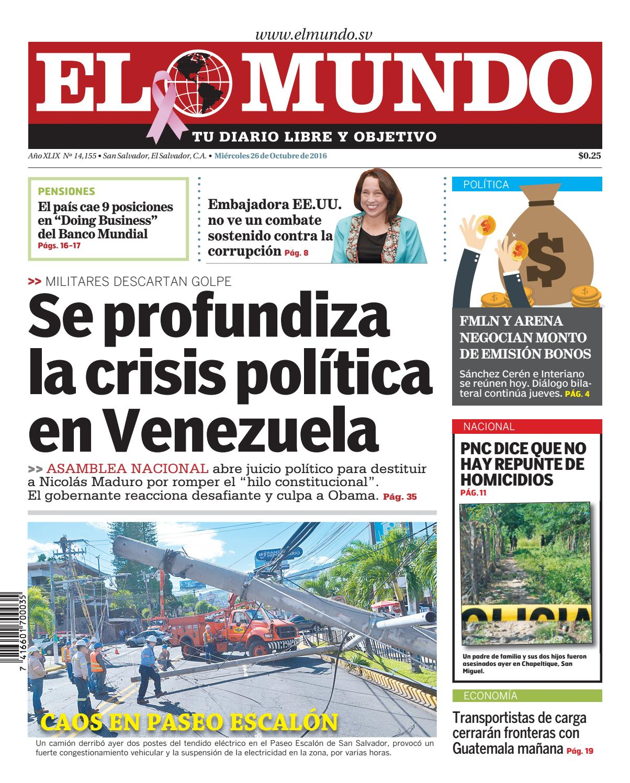 Mundo 261016 by Diario El Mundo - issuu