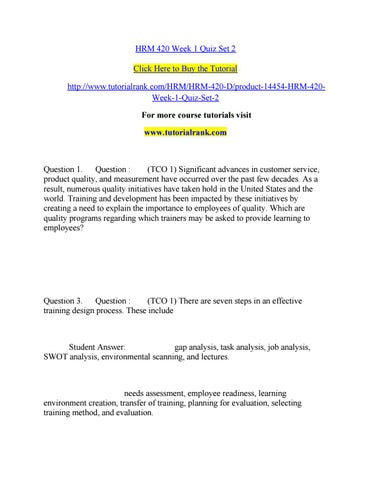 Hrm 420 week 1 quiz set 2 by bsdo25 - issuu