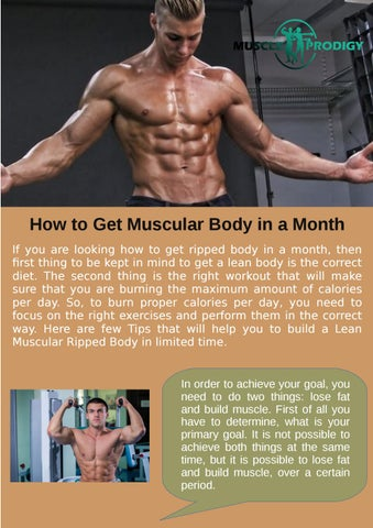 How To Get Muscular Body In A Month By Muscle Prodigy Issuu