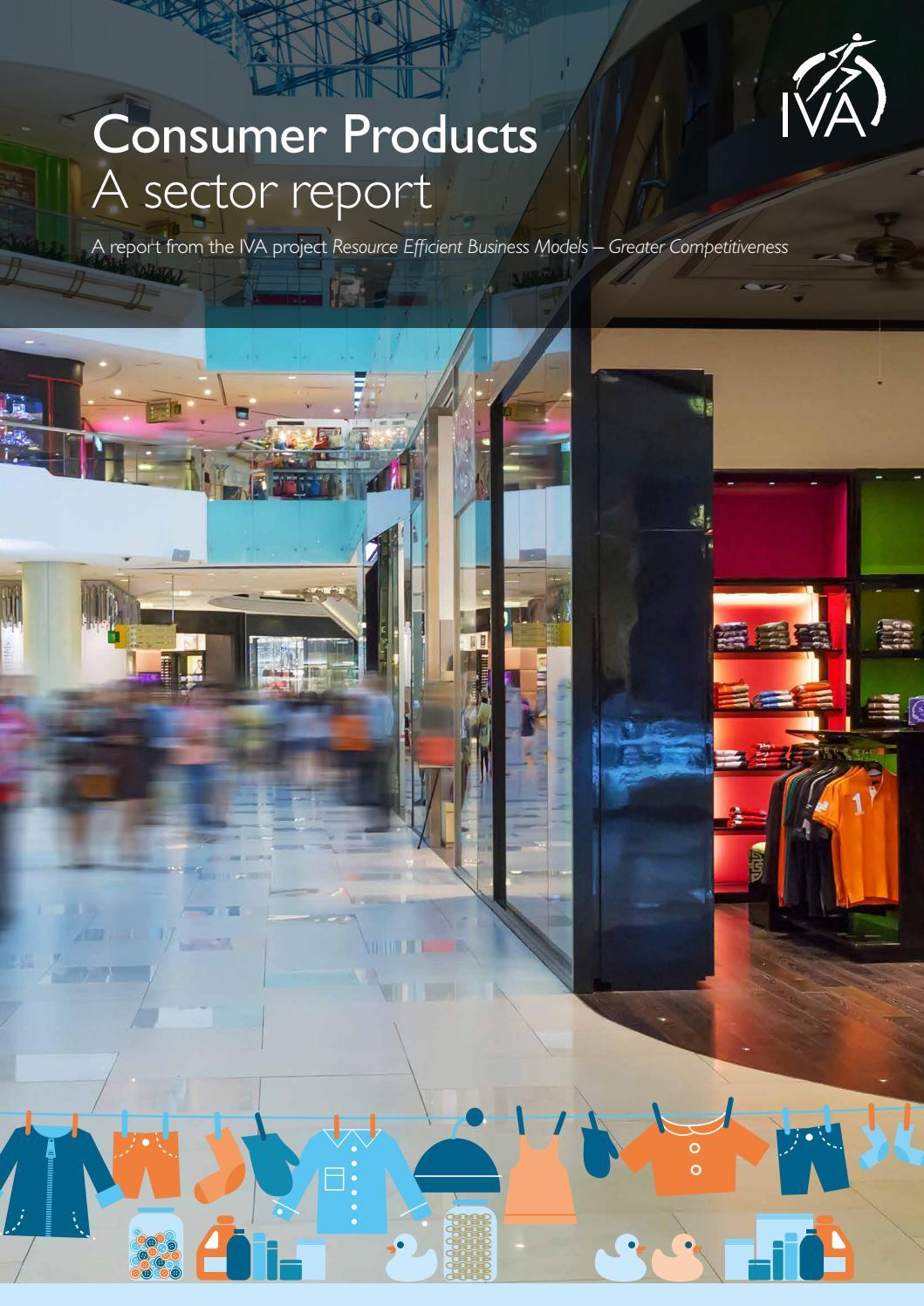 Consumer Products A Sector Report English By Kungl Ingenjorsvetenskapsakademien Iva Issuu