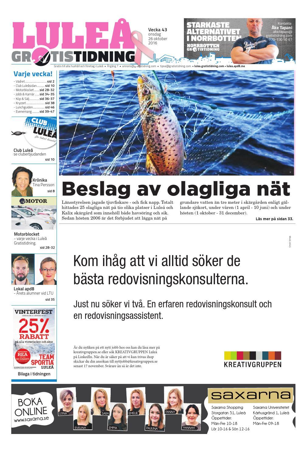 huge discount a43f7 64cf6 Luleå Gratistidning med Team Sportia bilaga by Svenska Civildatalogerna AB  - issuu