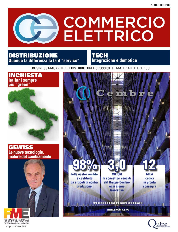Commercio Elettrico  7 - Ottobre 2016 by Quine Business Publisher - issuu 5b0dd7a82ac9