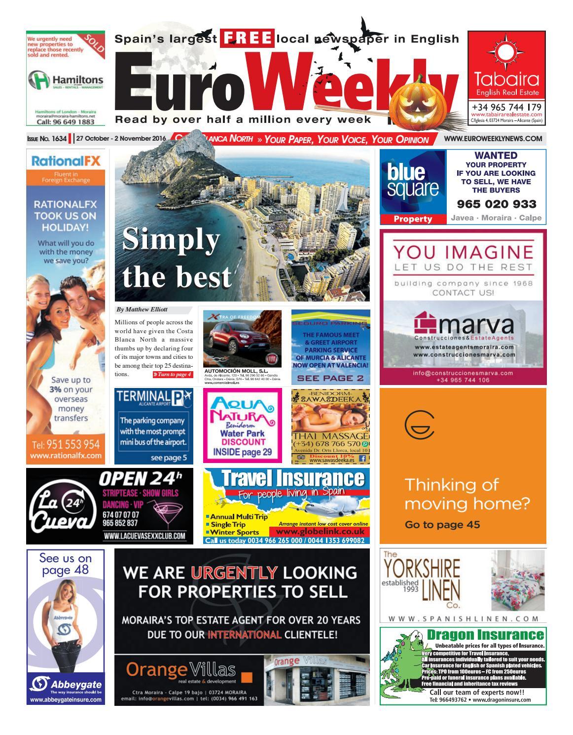 Euro Weekly News   Costa Blanca North 40 October   40 November 40016 ...