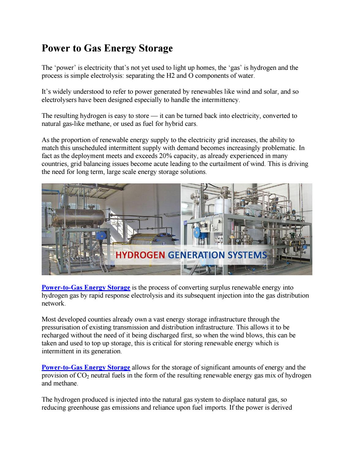 Power to gas energy storage by crystaltcs - issuu