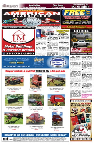 American Classifieds Oct  27th Edition Bryan/College Station