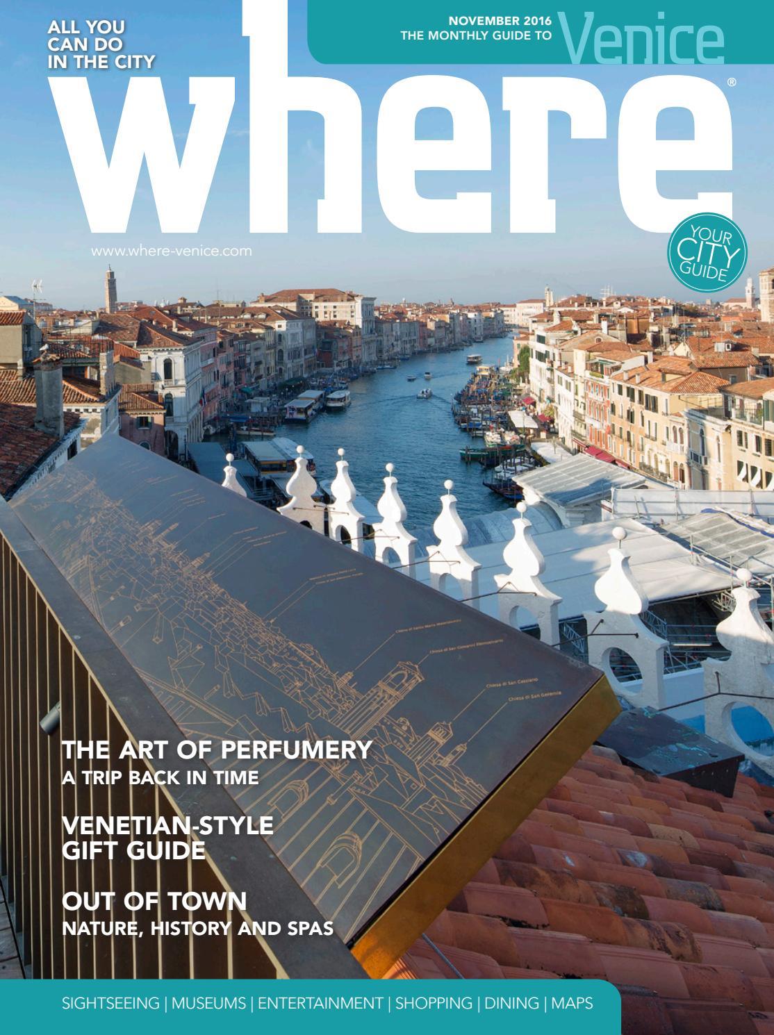 Where Venice N 3 November 2016 By Where Italia Issuu