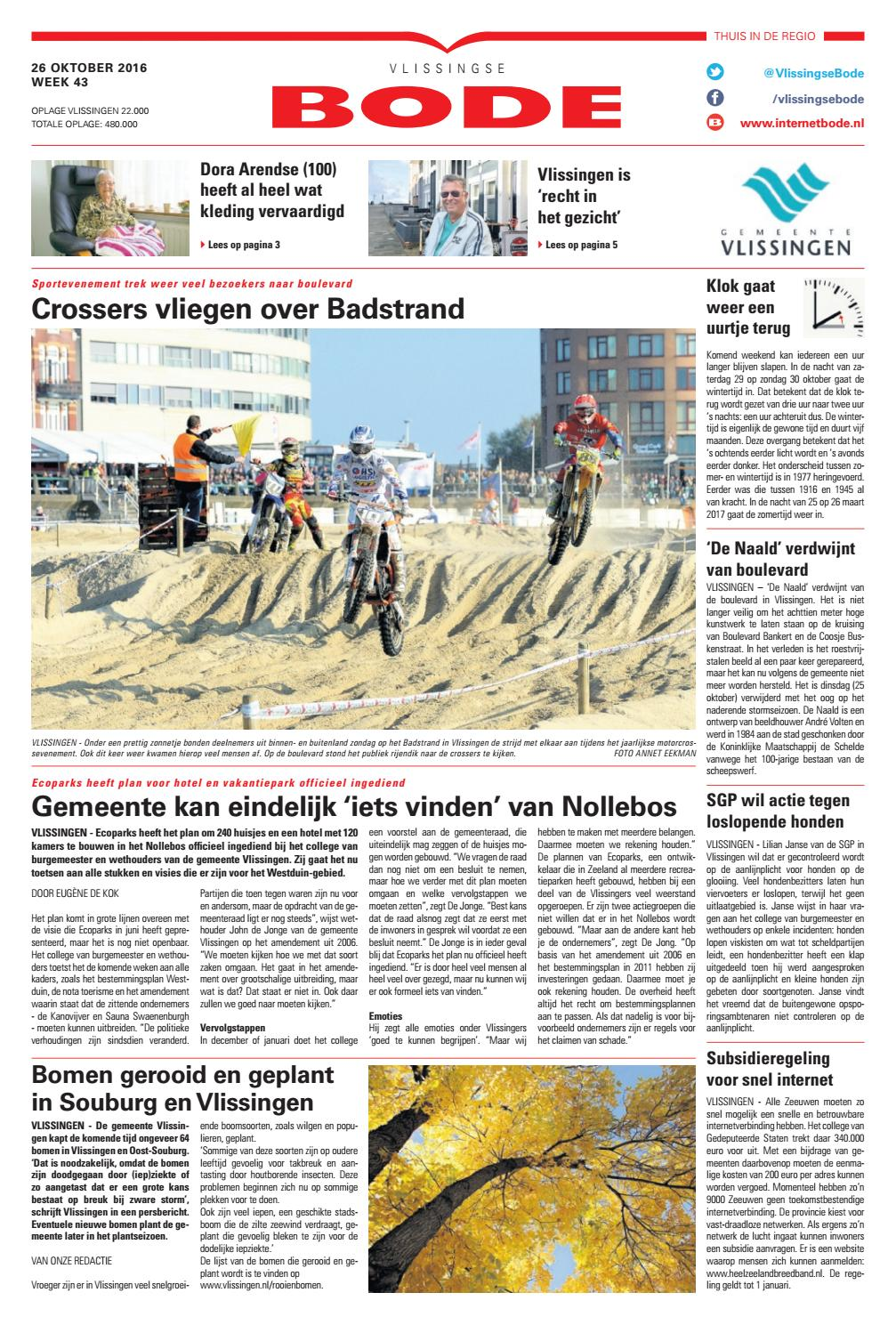 c10f4629e17ea3 Vlissingse Bode 26-10-2016 by Uitgeverij de Bode - issuu