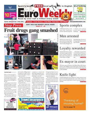 Euro Weekly News - Axarquia 27 October - 2 November 2016 Issue 1634