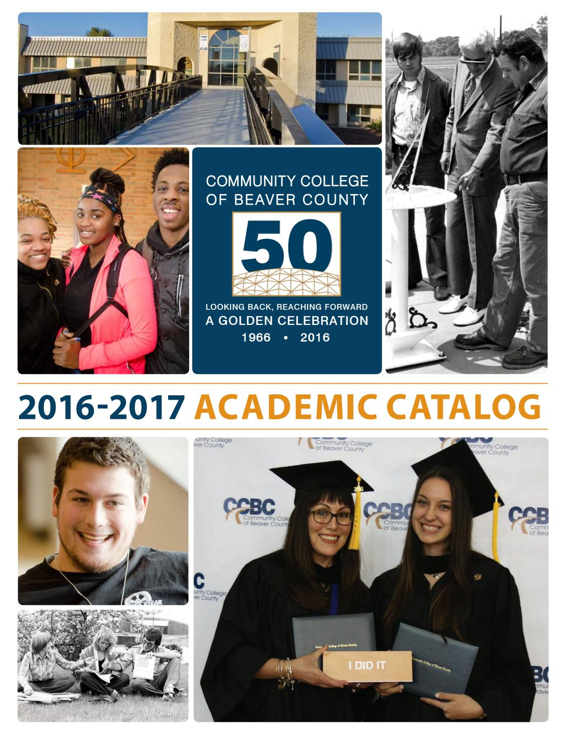 Community College of Beaver County 2016-17 Academic Catalog by ...
