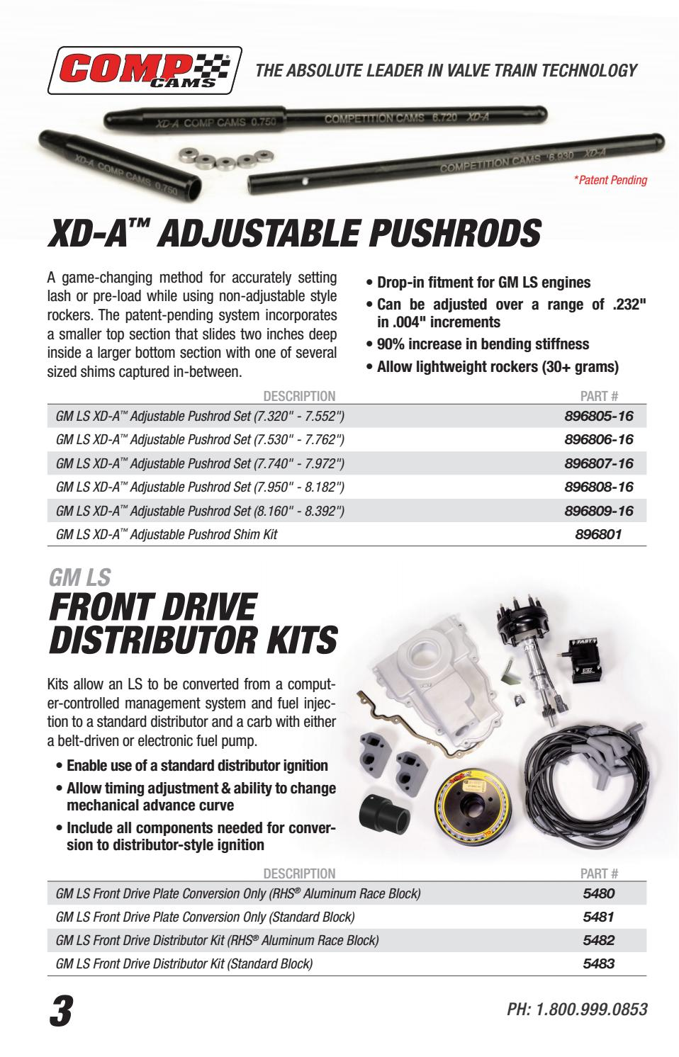 COMP Cams 896806-KIT Adjustable Pushrod Set