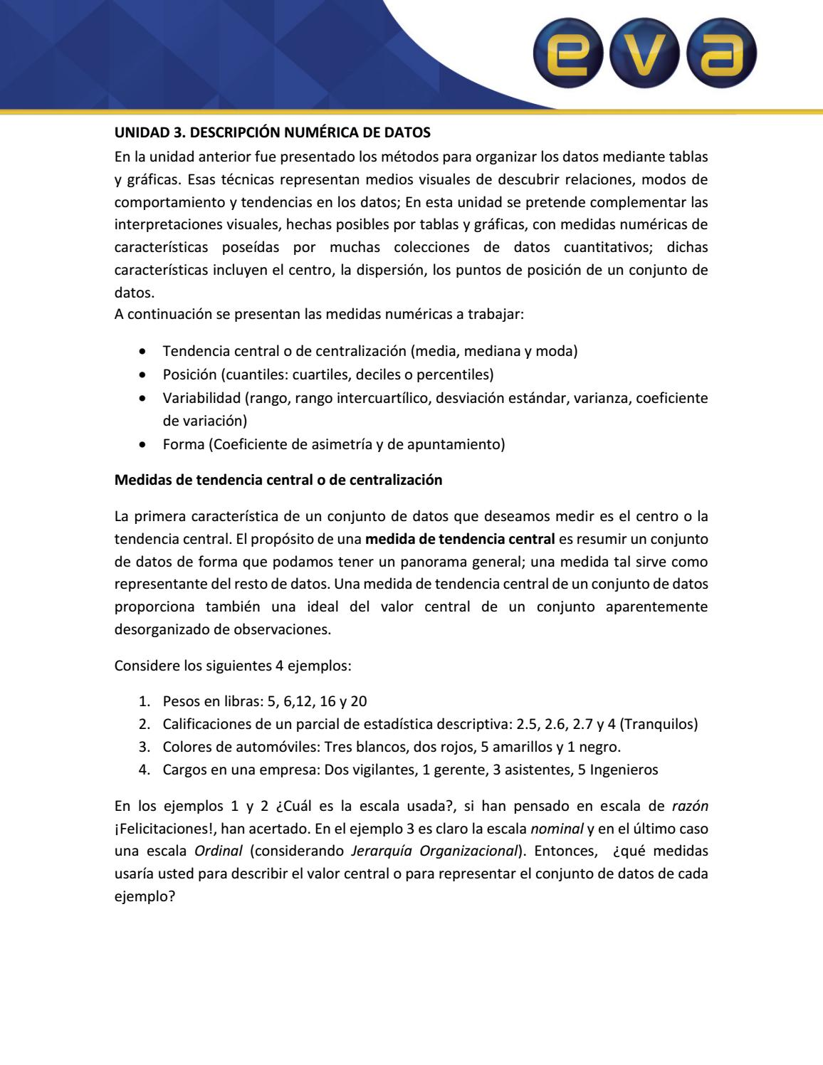 Descripción numérica de datos ap by bcgomez - issuu