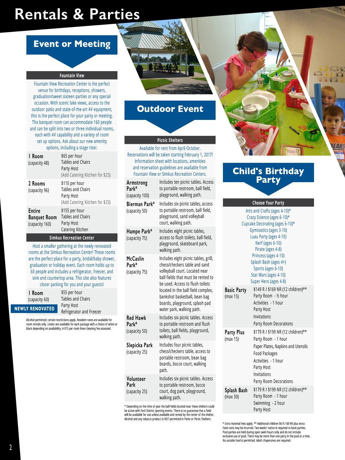 Carol Stream Park District 2017 Winter Activity Guide by Carol