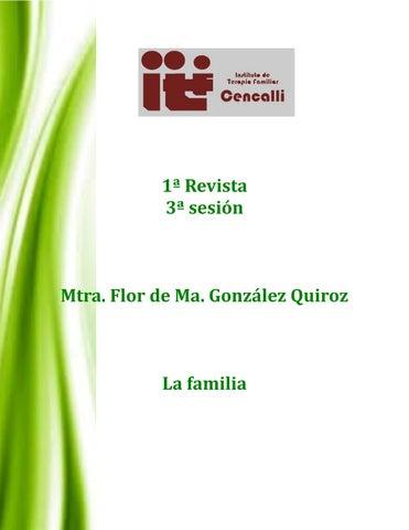 Revista 1 Sesion 3 La Familia By Flor María Issuu