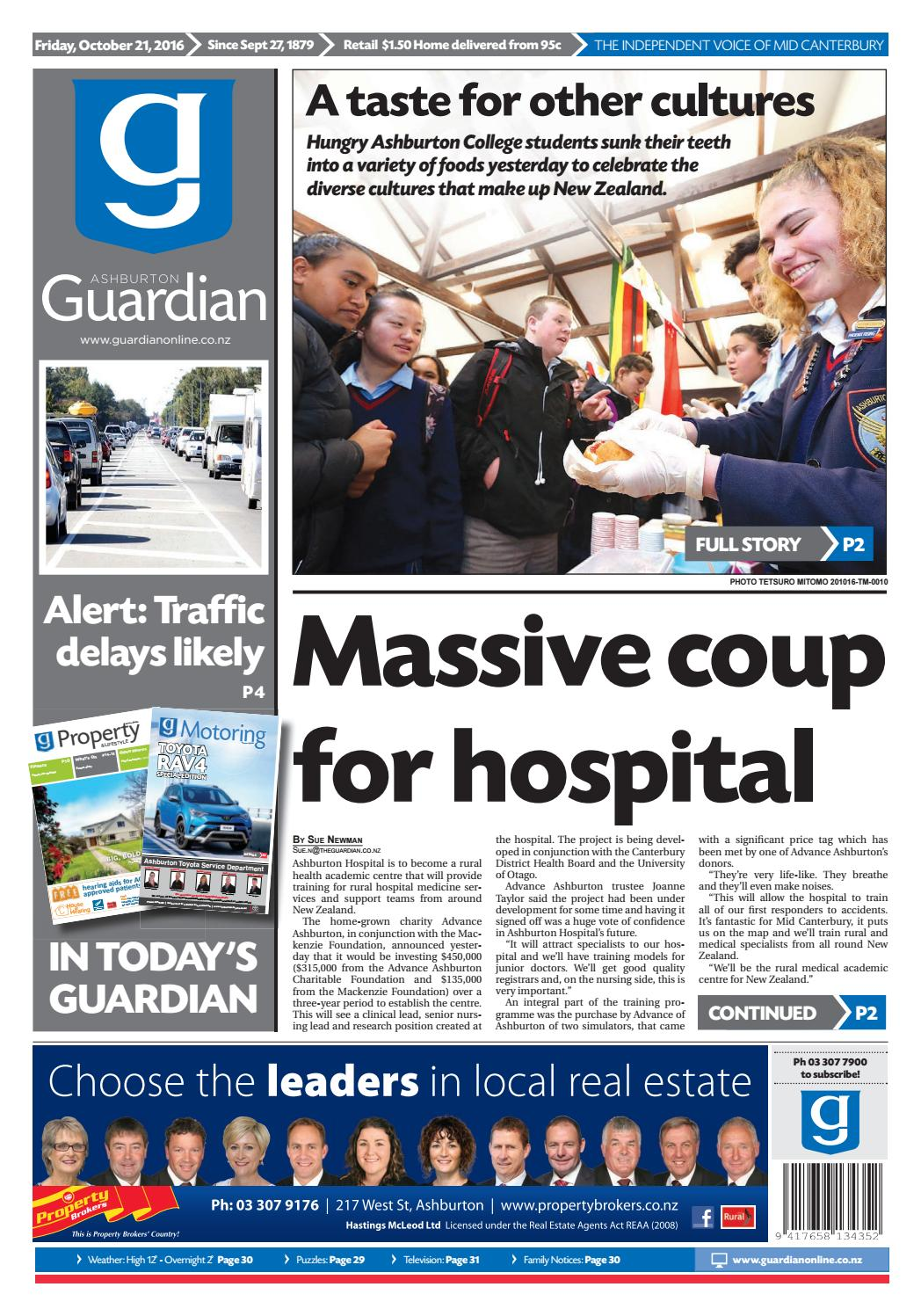 Ag 21 october, 2016 by Ashburton Guardian - issuu