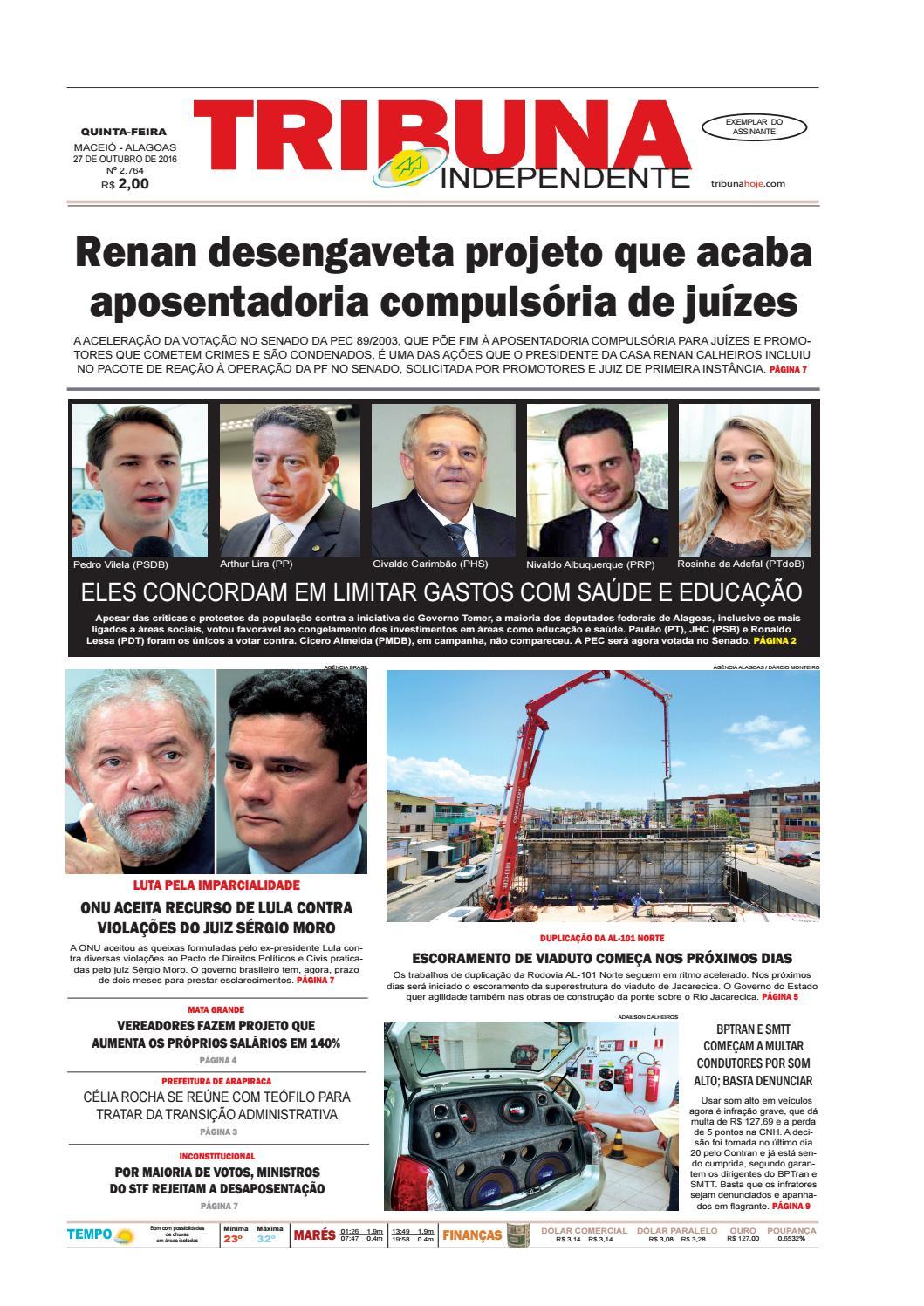 f7f9888bcf5 Edição número 2764 - 27 de outubro de 2016 by Tribuna Hoje - issuu