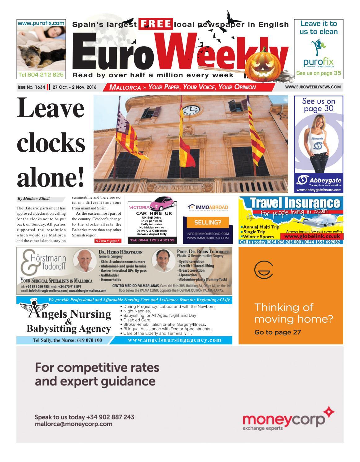 Euro Weekly News   Mallorca 40 October   40 November 40016 Issue ...