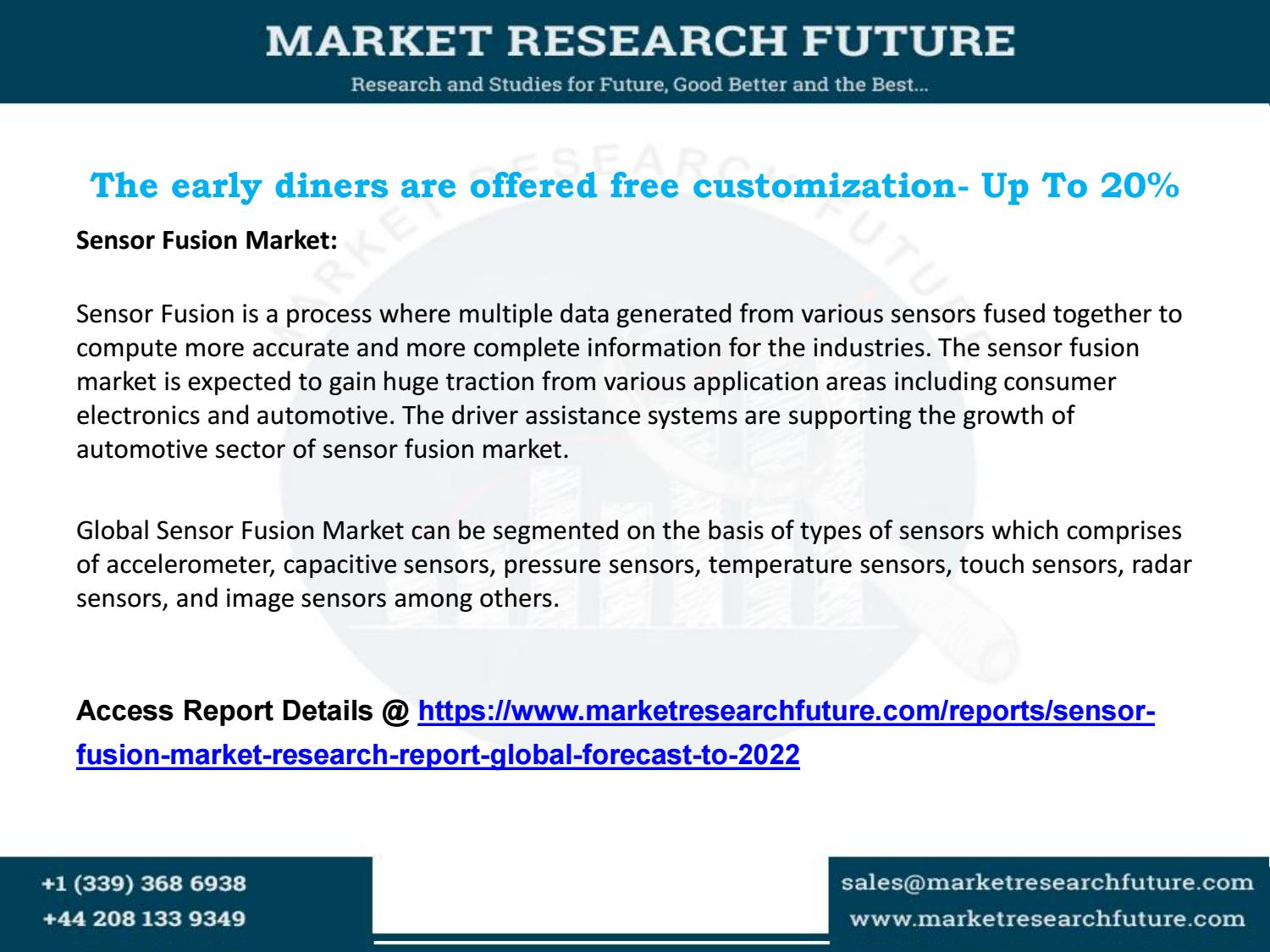 Sensor fusion market research report global forecast to 2022