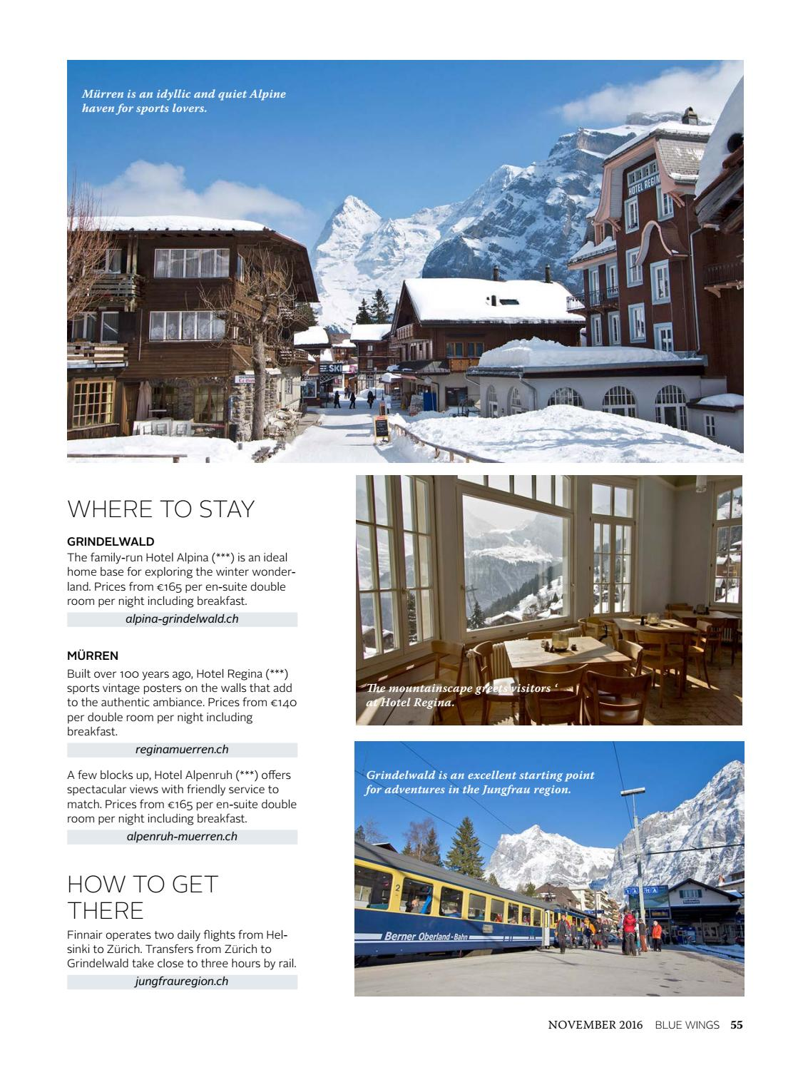 Blue Wings Courage Issue November By FinnairBlueWings Issuu - Hotel alpina grindelwald