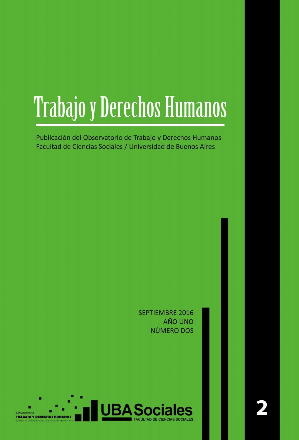 Revista Trabajo Y Derechos Humanos 2 By Observatorio De