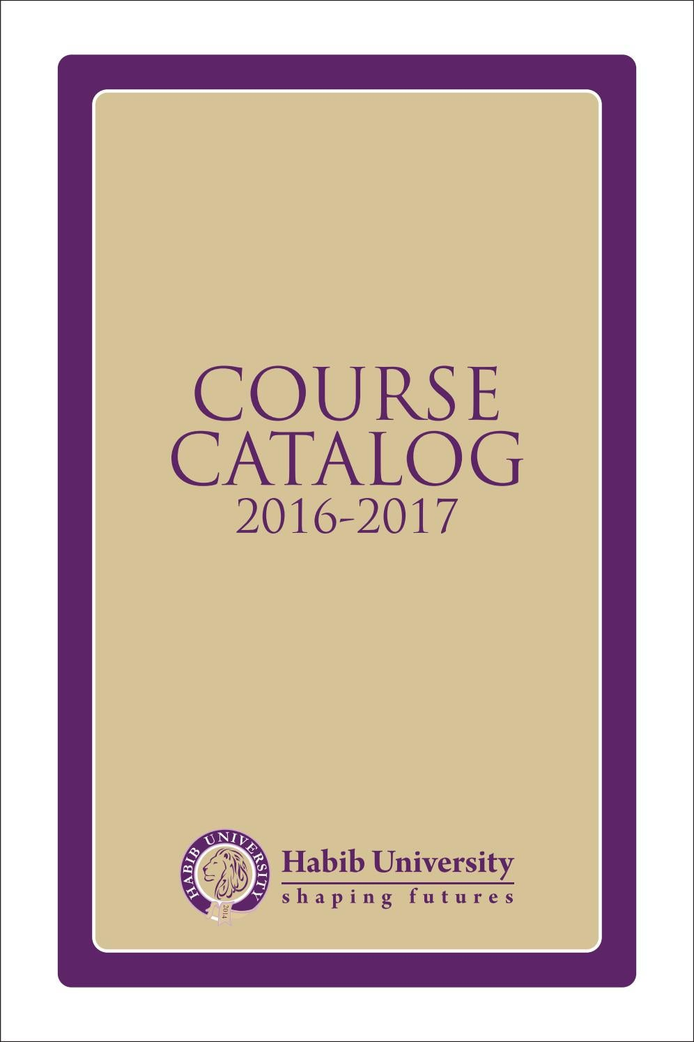 Habib University Course Catalog 2015 2016 By Issuu How To Connect Ampere Meter Home Wiring Urdu And Hindi Video