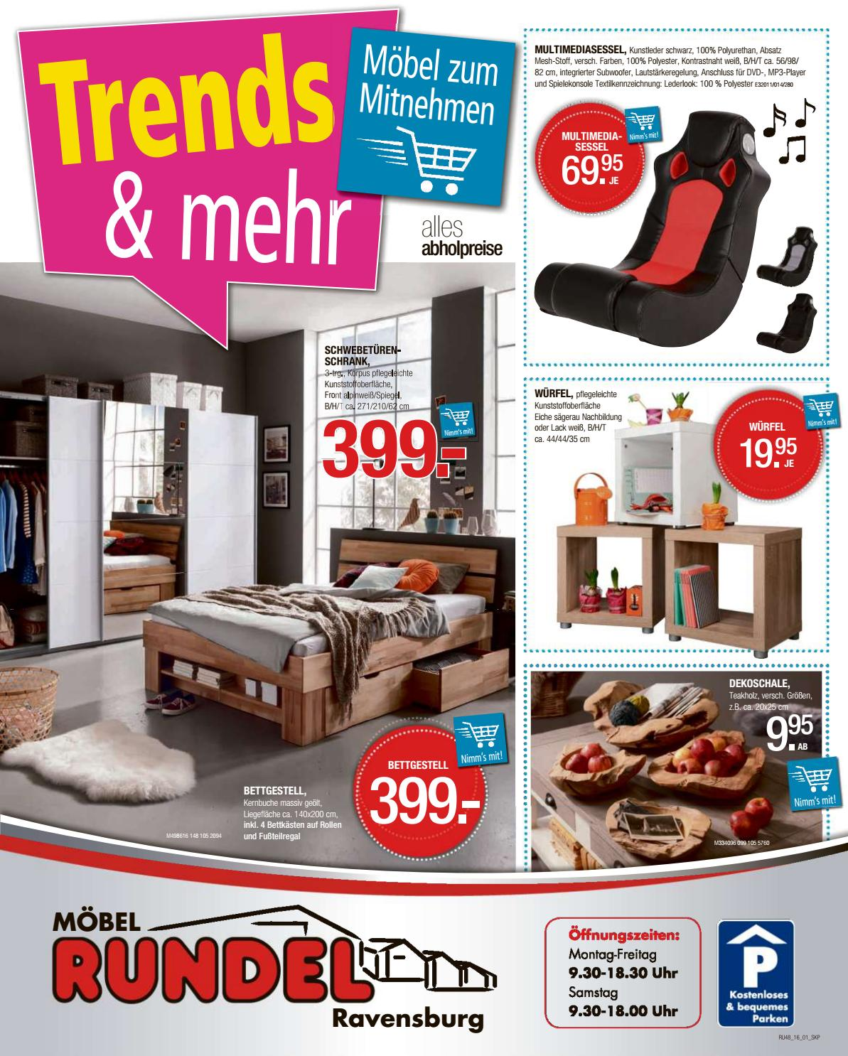 moebel rundel kw48 by russmedia digital gmbh issuu. Black Bedroom Furniture Sets. Home Design Ideas