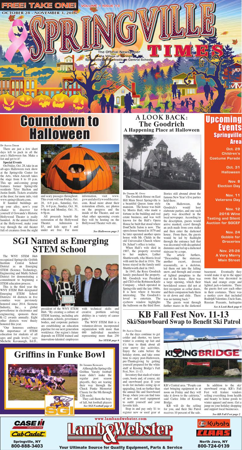 10 28 16 springville times by ellicottville times issuu fandeluxe Gallery