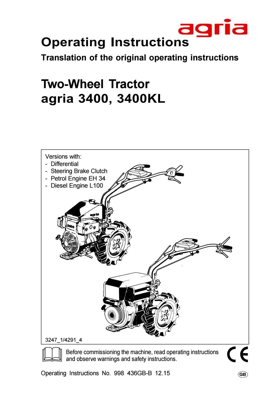 agria 3400 intruksjonsbok brukerveiledning by maskin