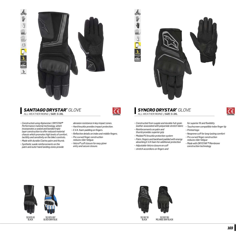 Alpinestars Synchro Drystar Gloves 3XL