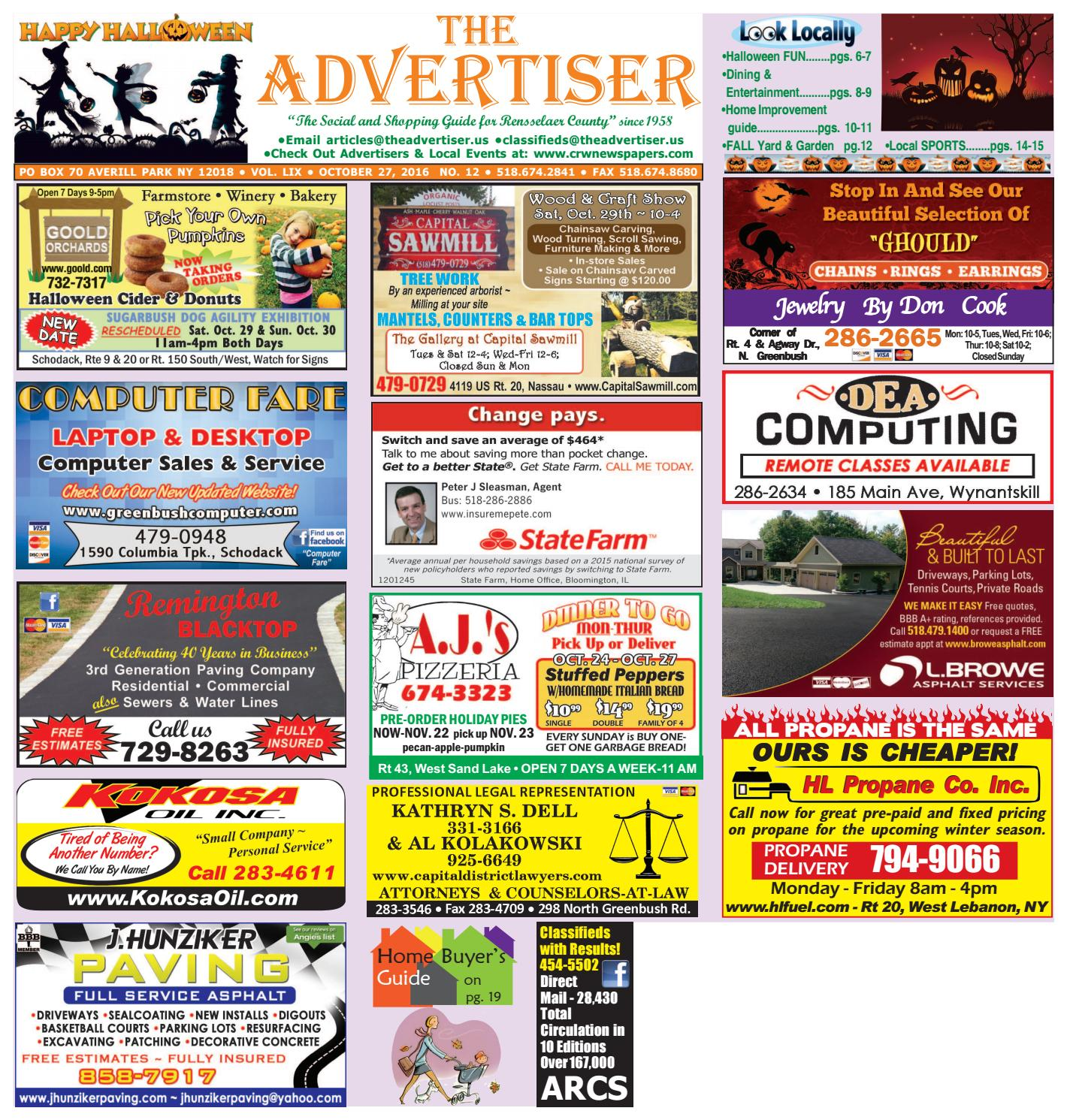 6348c72f343 Advertiser South 102716 by Capital Region Weekly Newspapers - issuu