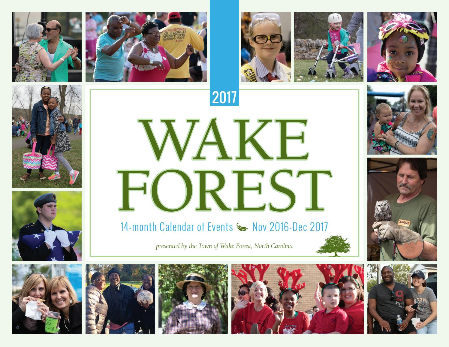 Calendar 2017 by Town of Wake Forest - issuu