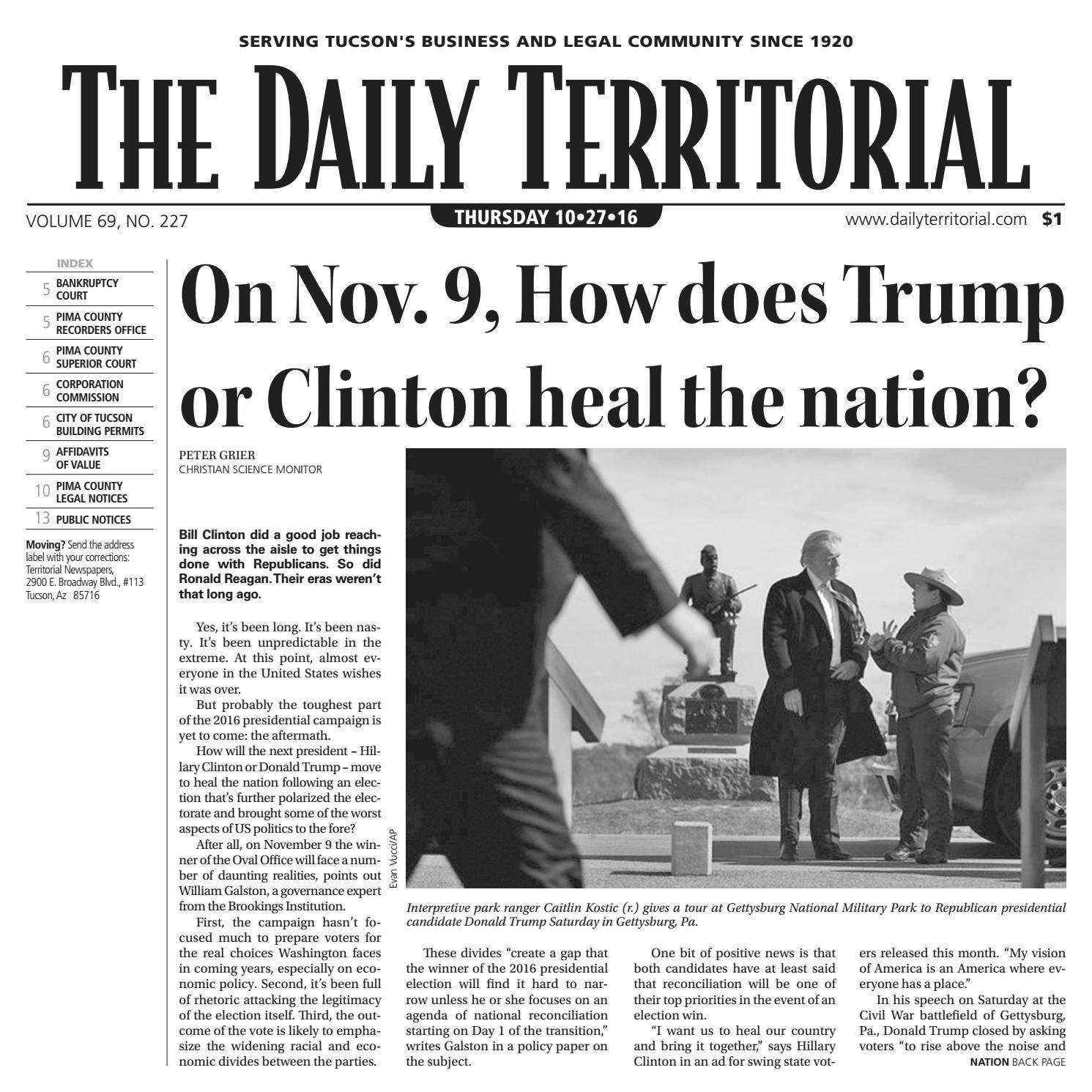 10272016 The Daily Territorial By Wick Communications Issuu