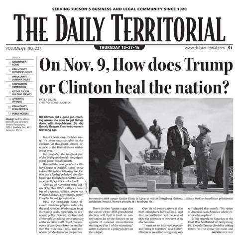 c5b727c612 10 27 2016 The Daily Territorial by Wick Communications - issuu
