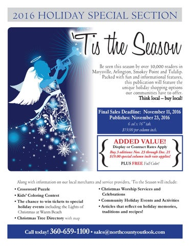 Special Holiday Edition Tis Season For >> 2016 Holiday Guide Flyer By The North County Outlook Issuu