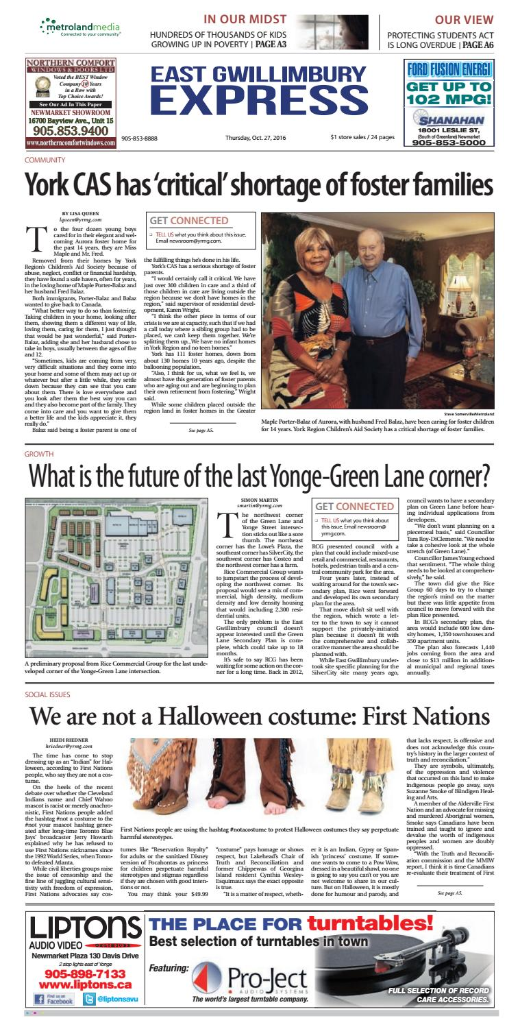 East Gwillimbury Express, October 27, 2016 by East Gwillimbury - issuu