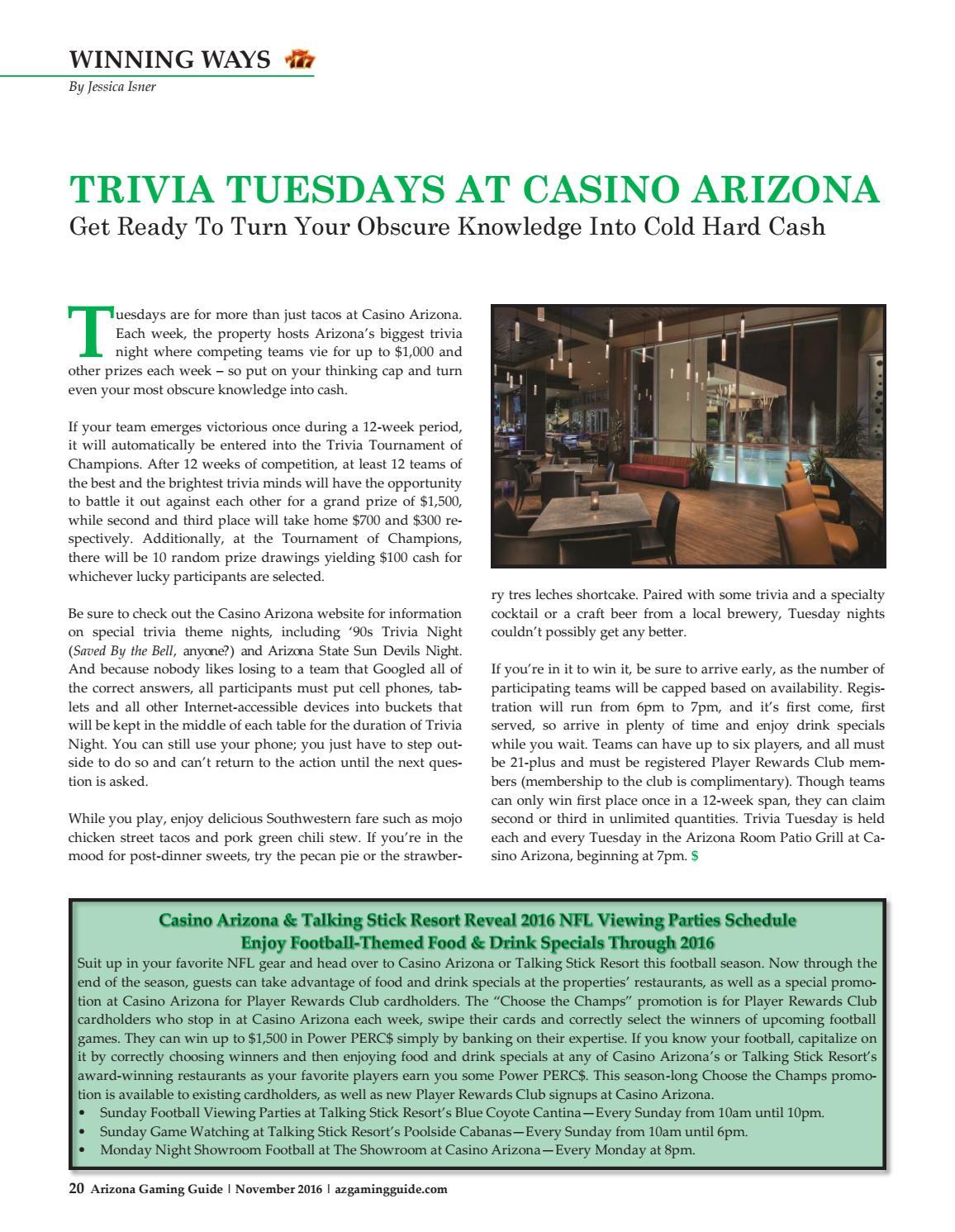 casino arizona trivia