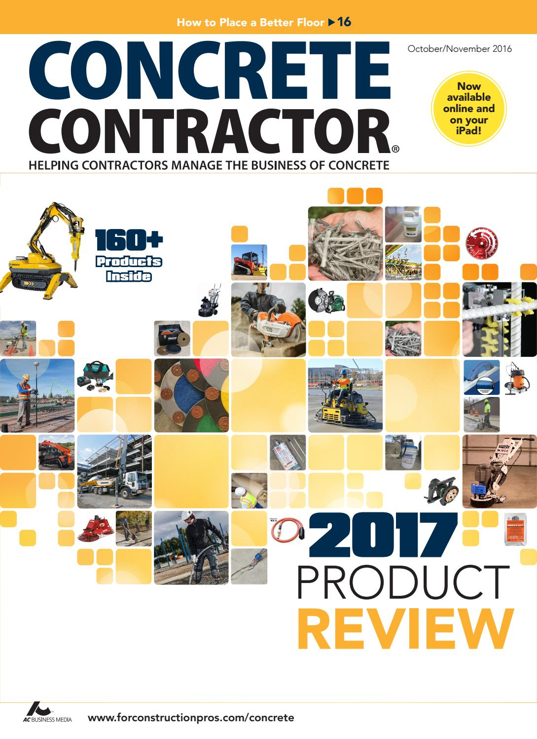 Concrete Contractor October November 2016 By Forconstructionproscom 480 Wiring Diagram Ez Go Workhorse Engine Issuu