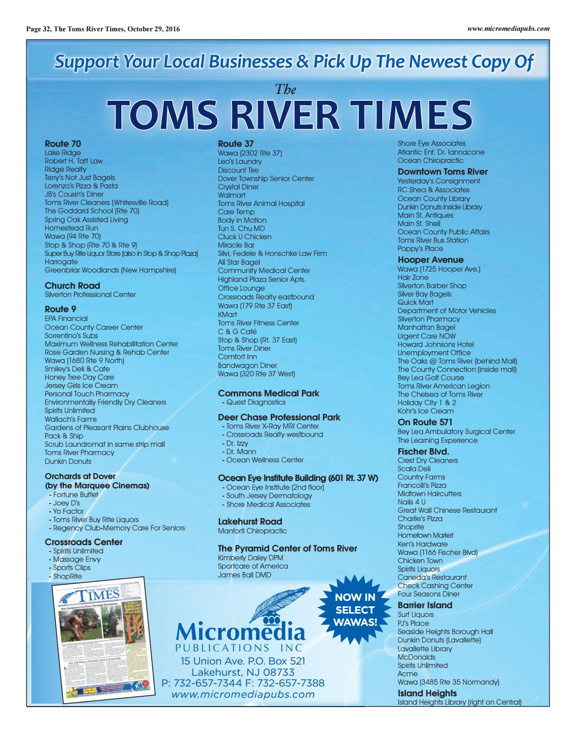 2016 10 29 The Toms River Times By Micromedia Publications Issuu