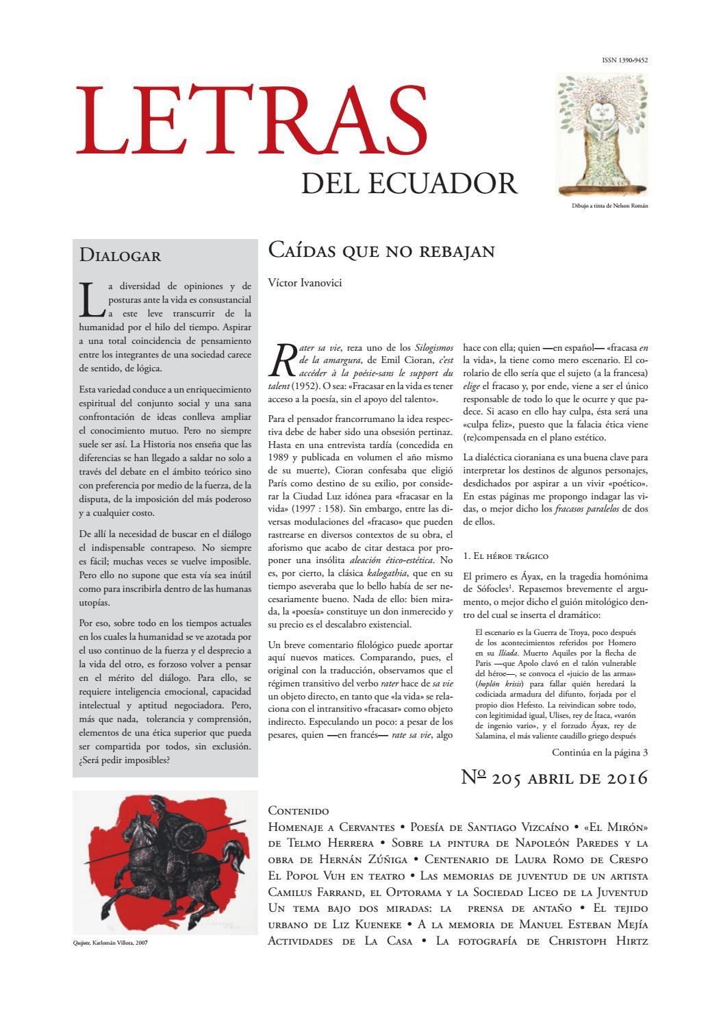 Letras Del Ecuador N 205 By Revistas De La Casa De La Cultura Ecuatoriana Benjamín Carrión Issuu