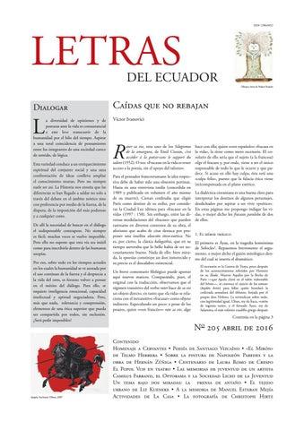 70a908ef6 Letras del Ecuador N 205 by Revistas de la Casa de la Cultura ...