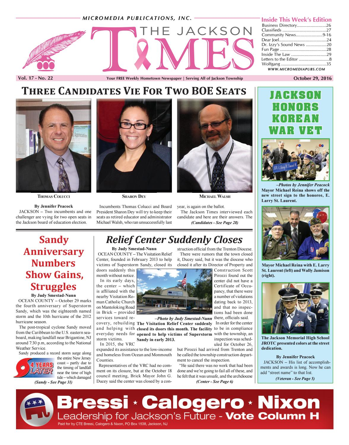 2016-10-29 - The Jackson Times by Micromedia Publications - issuu