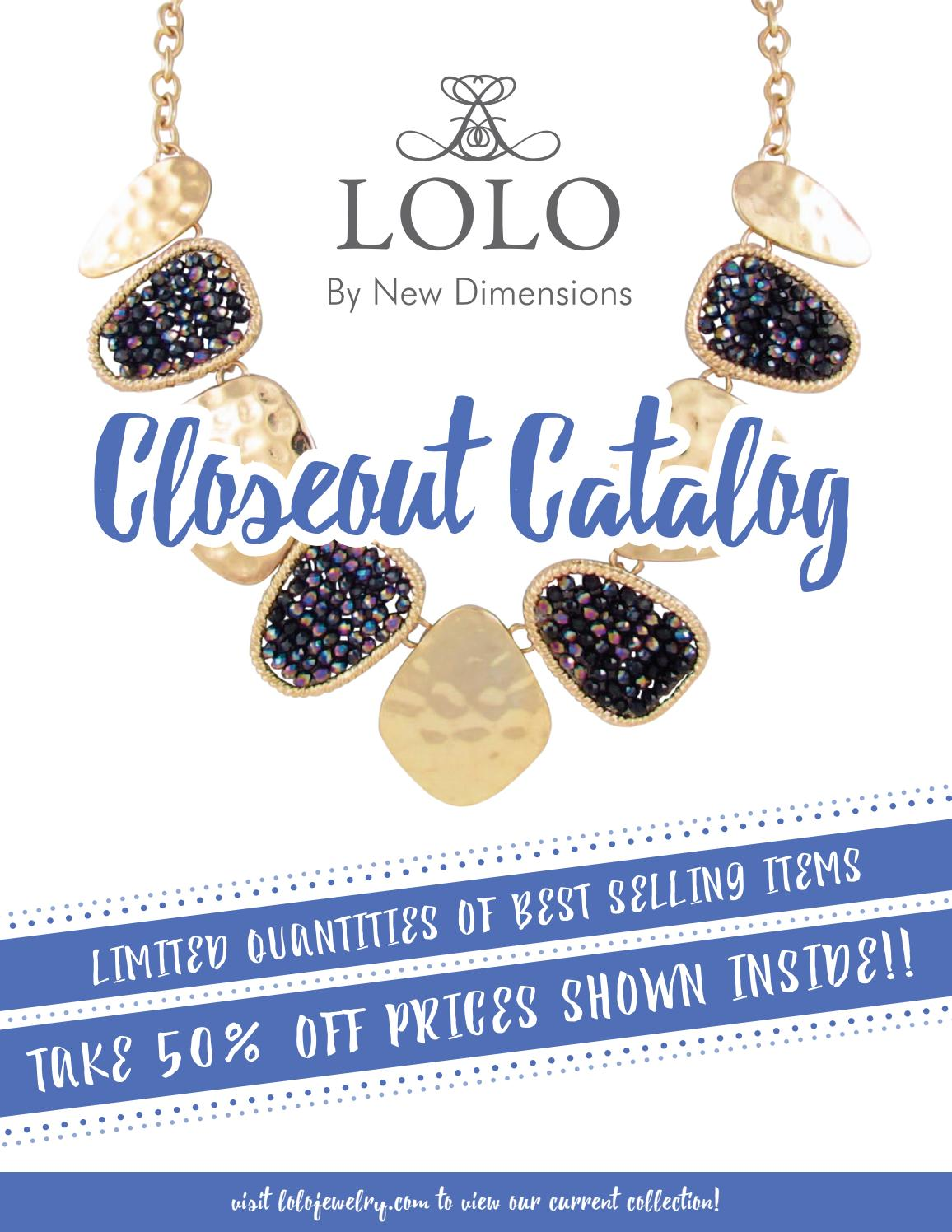 lolo jewelry closeout catalog by new dimensions issuu