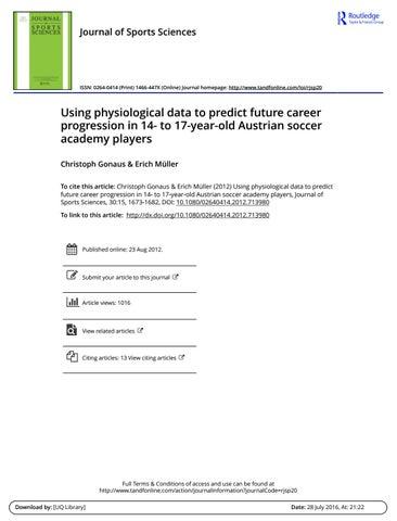 Using Physiological Data To Predict Future Career Progression 14 17 Australia By David Da Silva Issuu