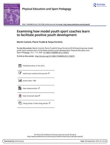 Examining how model youth sport coaches learn to facilitate page 1 fandeluxe Image collections