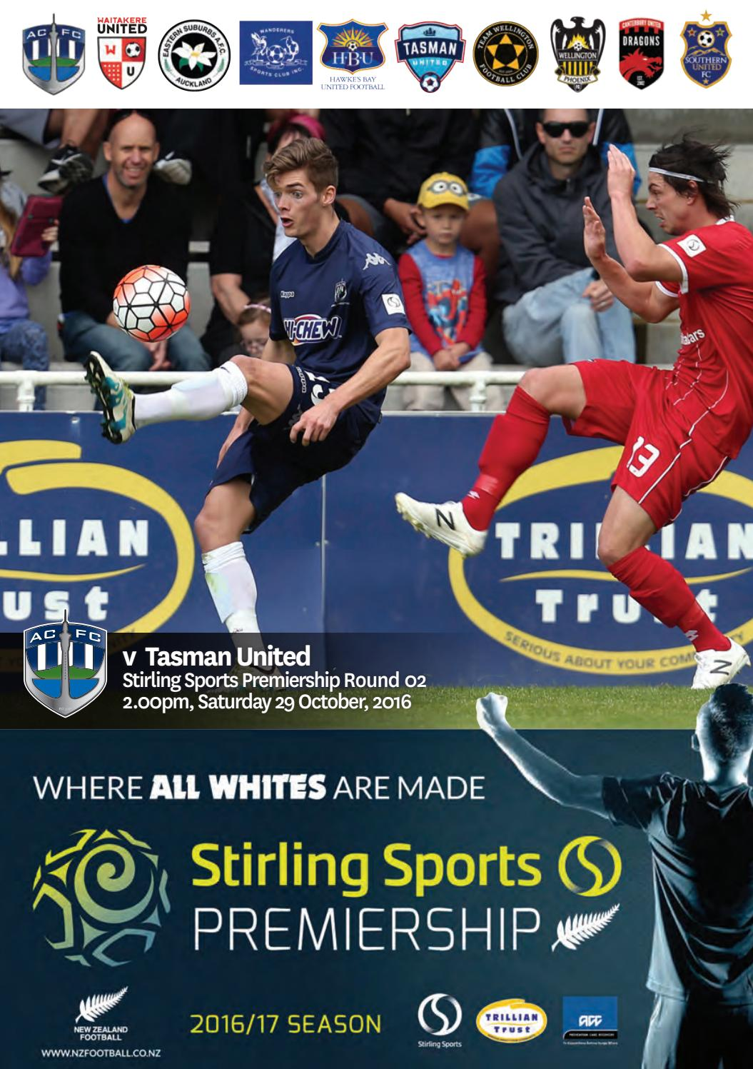 Match Programme Auckland City Fc V Tasman United By
