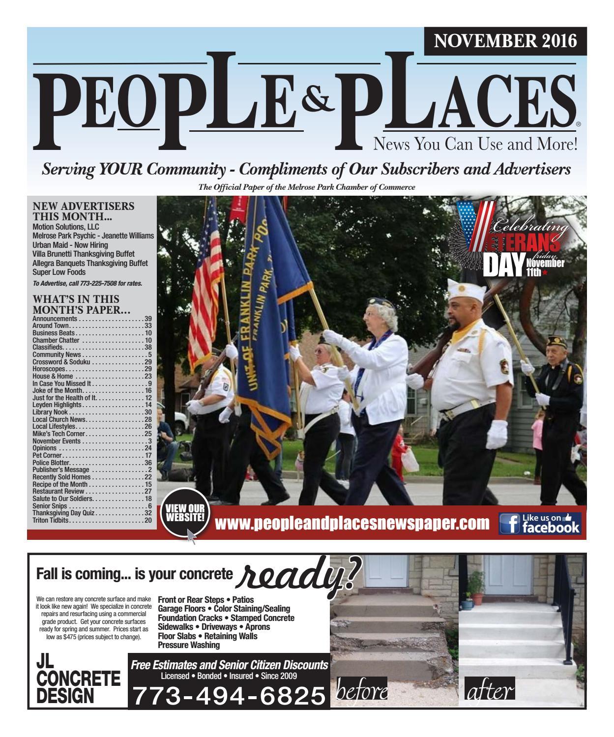 November 2016 People & Places Newspaper by Jennifer Creative
