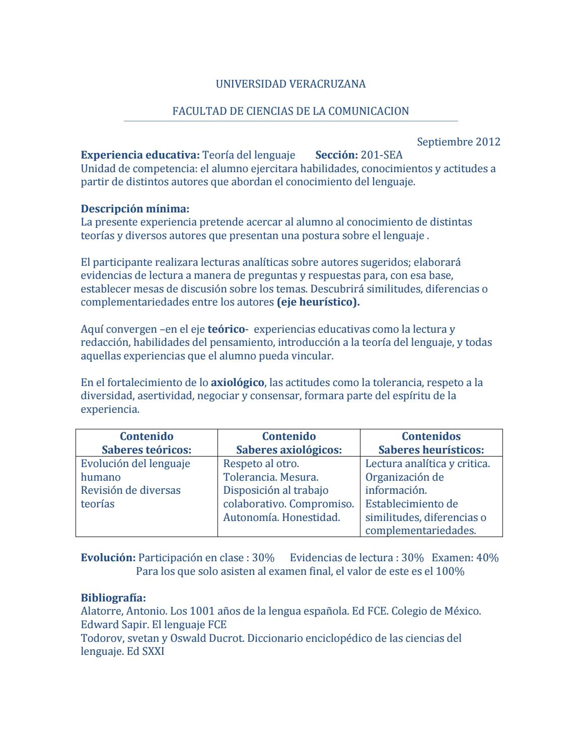 Antología de teoria del lenguaje by ComunicaciónSEA - issuu