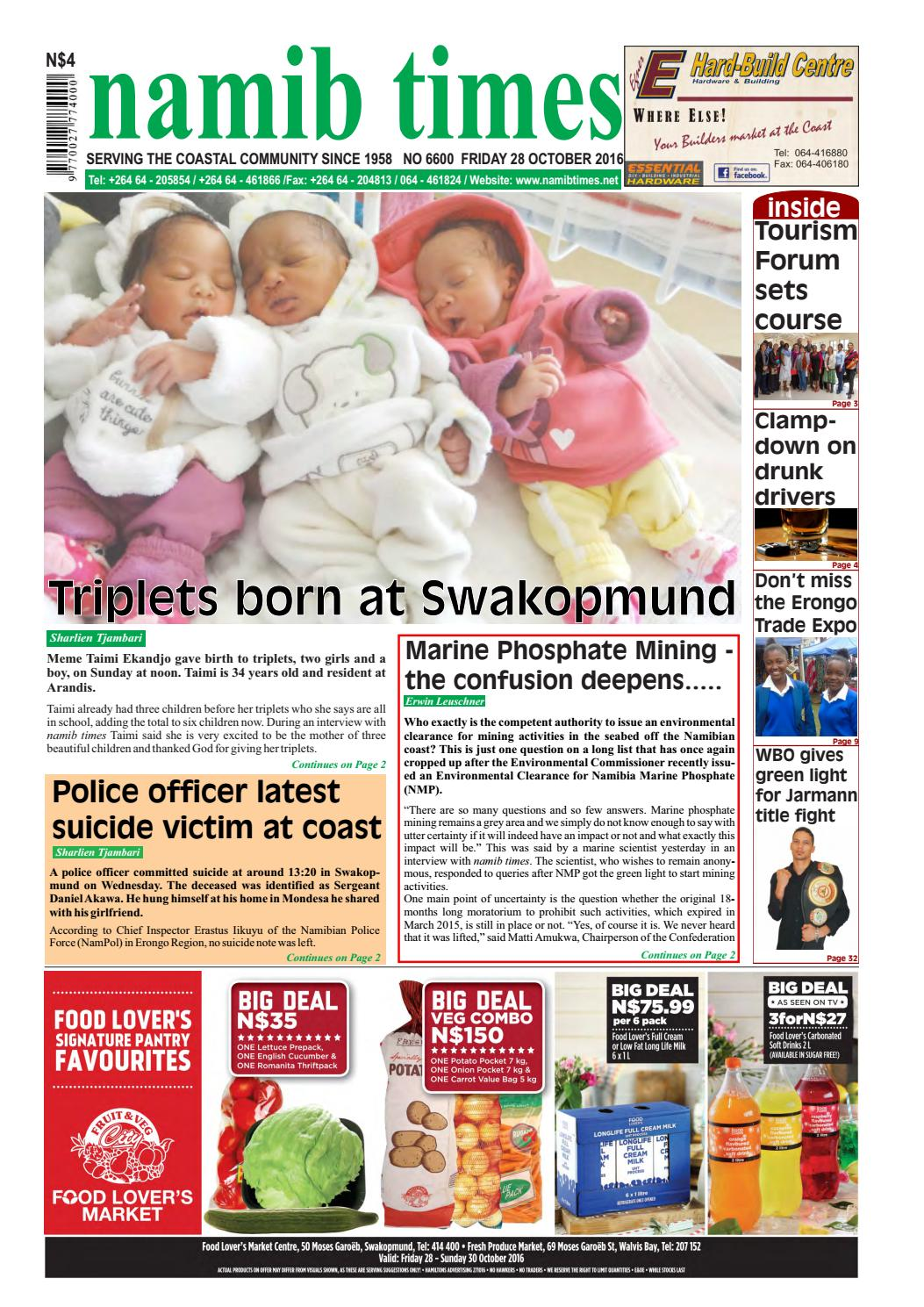 28 October Namib Times E Edition By Namib Times Virtual Issuu