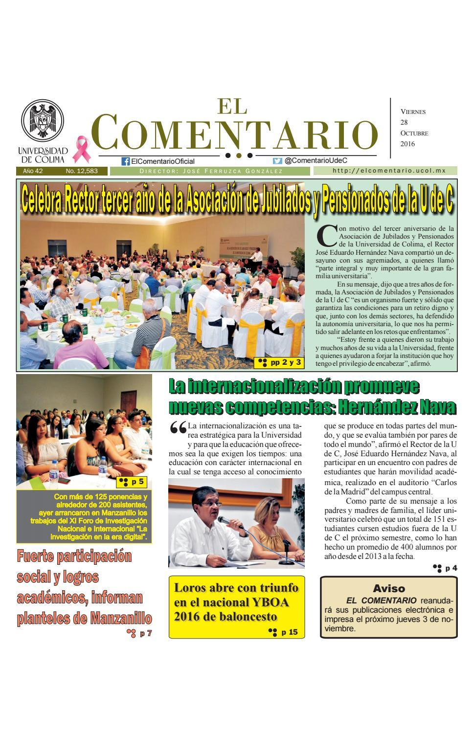 Edición del viernes 28 de octubre de 2016 by Pepe Ferruzca - issuu