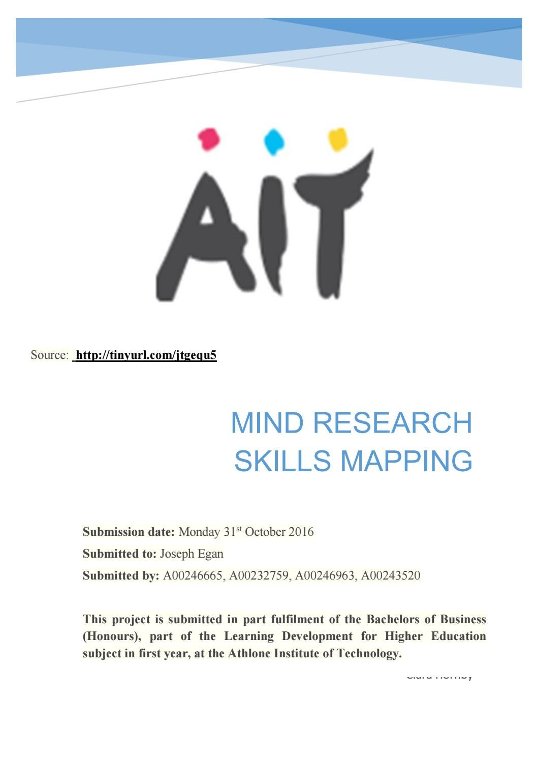 Mind research skills mapping by AIT Student - issuu