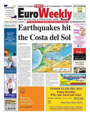 Euro Weekly News - Costa del Sol 28 January - 3 February 2016 Issue 1595 a37bf8f54540